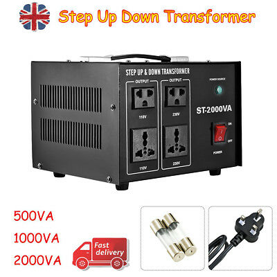 Step Up/Down Transformer 230V to 110V AC UK-US Voltage Converter 500/1000/2000VA