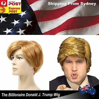 Donald Trump Wig Hair Costume Halloween Fancy Dress Party USA President Accessor