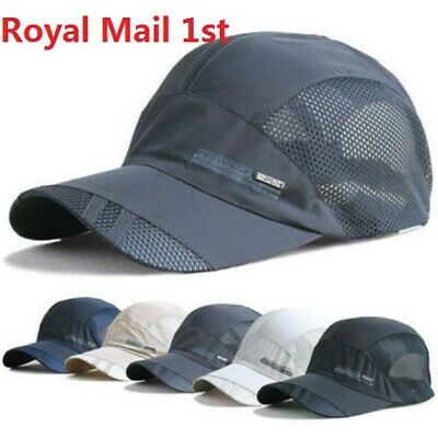 Quick-drying Cool Women Men Sport Mesh Hat Running Visor Cap Summer Outdoor UK