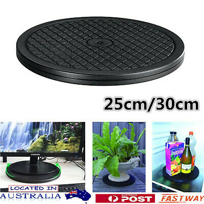"Black Rotating Swivel Turntable Plate Lazy Susan Home Kitchen Food Tool 10"" 12"""
