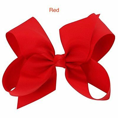 "6"" Red Hair Bows Jojo Siwa Clip Large for Girls Teens Kids School Dance Party"