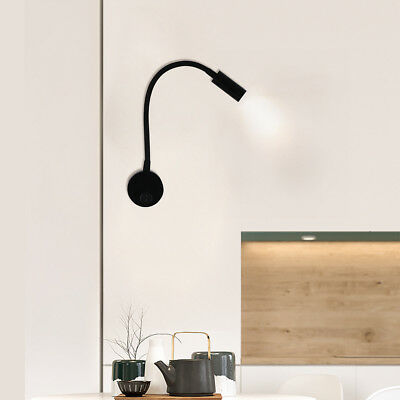 Modern 3W LED Wall Sconce Bedside/Reading Lamp Wall Night Lights Hose Spotlight
