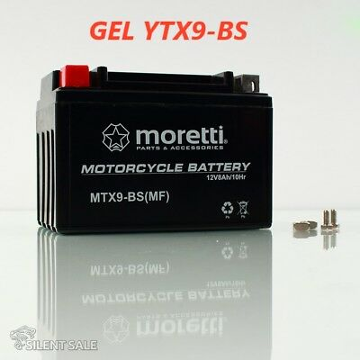 GEL-Motorradbatterie YTX9-BS AGM Honda CH 125 IT Spacy, JF03, Bj. 1996-1999