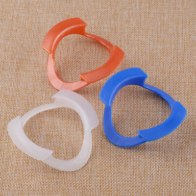 3x O-Type Dental Intraoral Cheek Retractor Oral Mouth Opener Orange White Blue