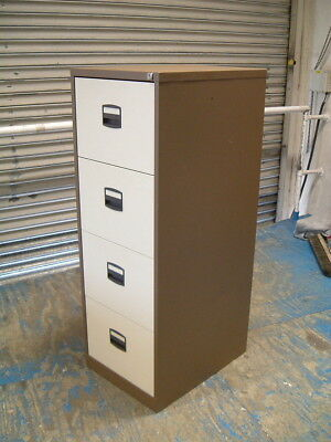 Filing Cabinet Four Drawer Coffee Cream.