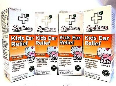 Similasan Kids Ear Relief Multi Symptom Drops 10 ml Exp 03/21 + SEALED LOT OF 4