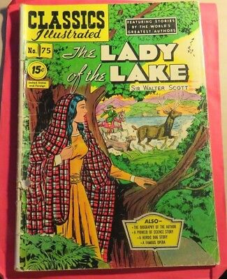 Classic Illustrated #75 Lady of The Lake Golden Age Second Edition (1950)  C251