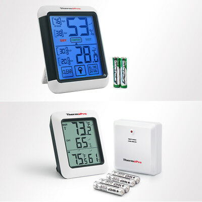 ThermoPro Indoor Outdoor Temperature Humidity Thermometer Hygrometer TP-55&TP-60