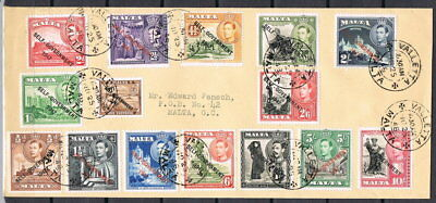 Malta: MiNr. 199 - 213 FDC, full Set Self-Government 1947, 1948 [8996]