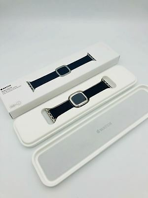 APPLE WATCH MJ5A2ZM/A 38mm Uhr Leder Armband Modern Buckle Mitternachtsblau Gr S