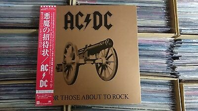 AC/DC For Those About To Rock JAPAN LP NM WAX OBI P-11068A