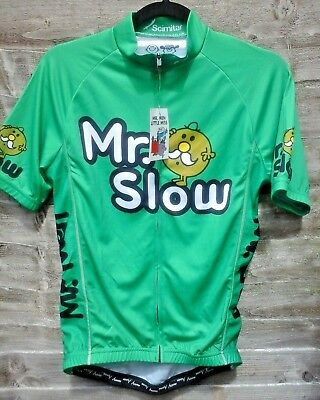 f8163d6bf Scimitar Mr Slow Men s Cycling Jersey Funky Cycle T-Shirts Size S New with  Tags