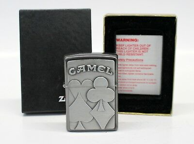CAMEL CIGARETTES  Zippo Lighter Card Suits NEW IN BOX unused MINT collectible