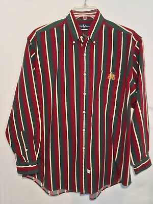 VTG !! POLO Ralph Lauren PRL Men s Shirt L Large Heavy Cotton Long ... 13e9db38528d