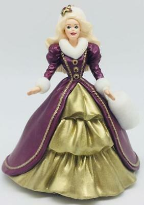 1996 Holiday Barbie Hallmark Ornament #4 Red Dress and Fur