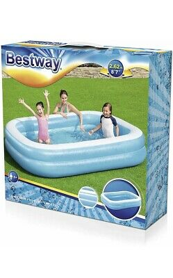 Bestway Large Rectangular Family Swimming Paddling Pool Outside Water Fun