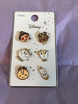 Disney Beauty And The Beast Emoji Pin Set Primark