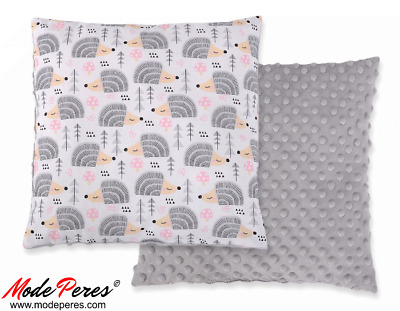 Doublesided Pillow - hedgehogs grey