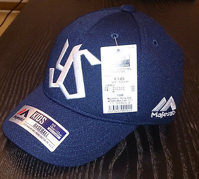 YAKULT SWALLOWS CAP Kids Medium (48-52cm) Original Majestic Japan