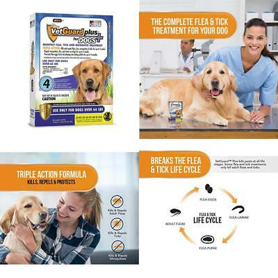 Vetguard Plus Flea  Tick Treatment For X-Large Dogs, Over 66 Lbs, 4 Month...