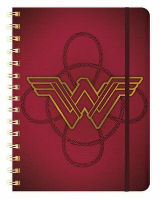 Wonder Woman 2018 Weekly Note Planner Spiral Bound NEW Red Cover
