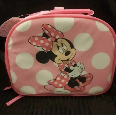 Minnie MouseLunch Box BagSchool Pink Bows (New)