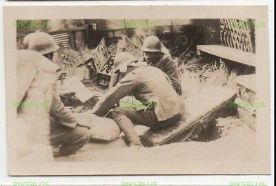 Old Chinese Photo Grenade Launcher Shanghai Incident China Vintage 1932