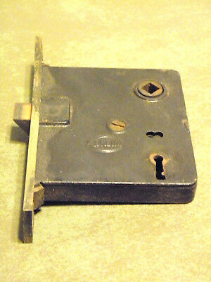 Antique Corbin Mortise Door Lock Exterior No Key Reclaimed Hardware Good Cond.