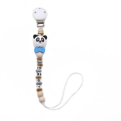 Panda Baby Newborn Girl Pacifier Clip Chain Dummy Soother Nipple Holder StrapD