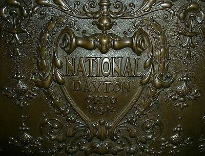 National Cash Register / antike Registrierkasse um 1900 / Bronze