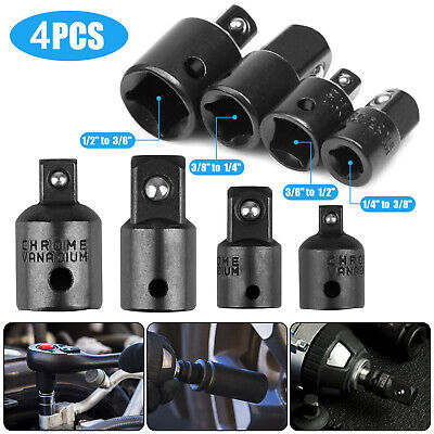 "4-pack 3/8"" to 1/4"" 1/2 inch Drive Ratchet Socket Adapter Reducer Air Impact Set"