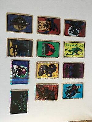 BATMAN 1994 PRISM Vending Sticker Complete Set (12) - DC Comics Inc.