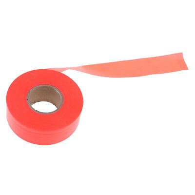 Outdoor Marking Ribbon Flagging Tape Trail for Marking Stakes Trees Orange