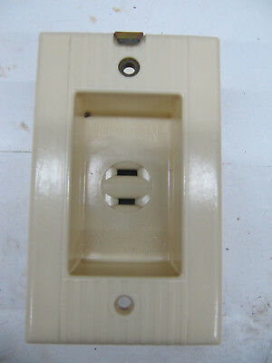 Vintage Leviton Recessed Electrical Wall Receptacle Outlet