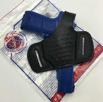 CEBECI LEATHER HALF Pancake OWB Thumb Break Holster for Ruger P85 P89 P90  P91 RH