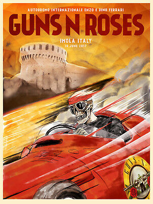 Guns n' Roses Poster from 30x42 to 70x100cm. music group Imola Italy reprint