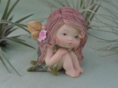 WOODLAND LITTLE BABY FAIRY GIRL Fairy Garden Top Col FREE SHIPPING
