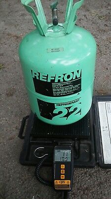 Partial Virgin Refron R22 Refrigerant 30# Tank w/ 17 lbs  Total weight
