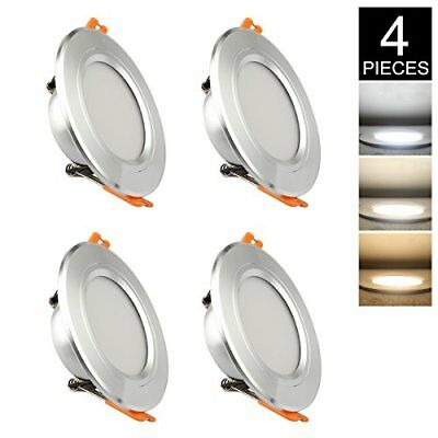 GALYGG 3 Colors Change LED Downlight - Cool/Neutral/Warm White Light, 4W, 4 pack