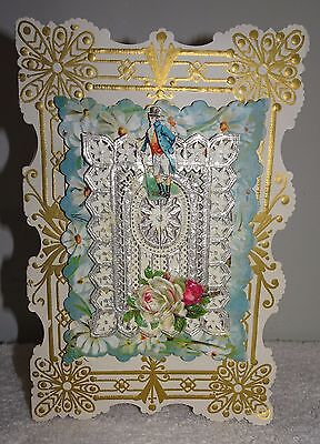 Antique Victorian 1800's?? Ornate Old English Greeting Card