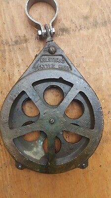 "Vintage Kolstrand, Seattle 6"" Bronze Pulley Block Fishing Tackle Commerical"