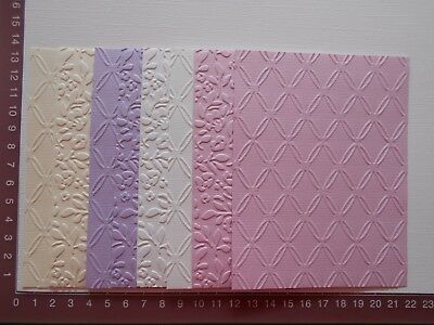 Embossed Cardstock - 8 pieces, 2 designs, Four colours - Lot 1