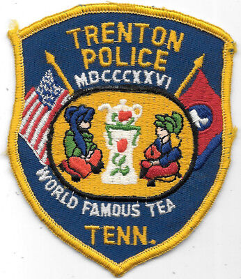 """Police Patch: Trenton Police Famous Tea Tennessee Measures 4 1/2"""" X 3 1/2"""""""