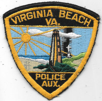 "Police Patch: Virginia Beach Va. Police Aux. Patch Measures 4"" X 4"""