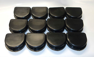 12 Dental Orthodontic Retainer Denture Mouth Guard Case Bleach - Black