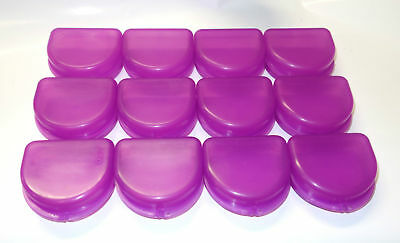 12 Dental Orthodontic Retainer Denture Mouth Guard Case Bleach - Purple