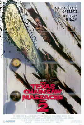 Texas Chainsaw Massacre 2 (1986) Style-B Tobe Hooper Dennis Hopper Poster 27x40
