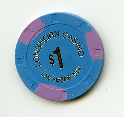 1.00 Chip from the Longhorn Casino Las Vegas Nevada