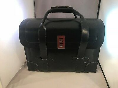 dafcd5522ca5 VINTAGE MILITARY PILOT Leather Briefcase