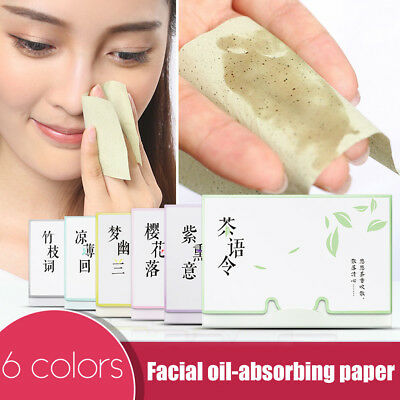 100Pcs/Set Facial Skin Oil Control Absorbing Sheets Blotting Clean Paper Wipes
